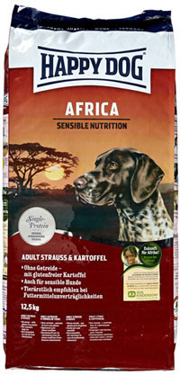 happy dog supreme africa hundefutter test. Black Bedroom Furniture Sets. Home Design Ideas